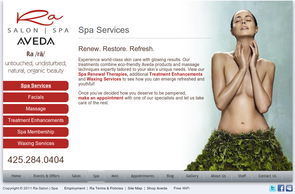 Spa Services « Ra Salon | Spa